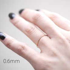 画像4: 超極細シンプルプレーンリング (0.5mm or 0.6mm) (4)
