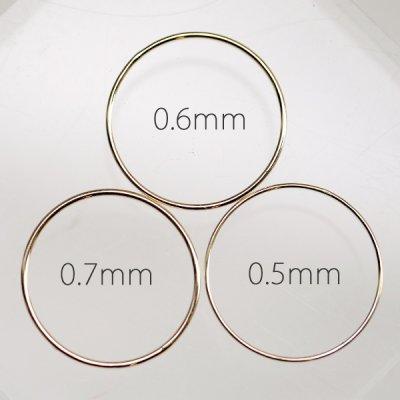 画像3: 超極細シンプルプレーンリング (0.5mm or 0.6mm)