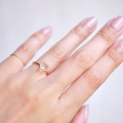 画像3: *TSUBOMI*ダイヤモンドクォーツ原石の蕾リング(42)