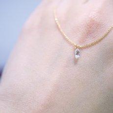 画像8: 【K18】0.195ct VS-2 ブリオレットカット ダイヤモンド ネックレス (8)