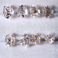 画像2: *TSUBOMI*ダイヤモンドクォーツ スタッドピアス 片耳ずつ選択 (2)