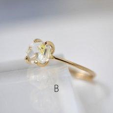 画像11: *TSUBOMI* 動く気泡入り オイルイン ダイヤモンドクォーツ原石の蕾リング(2) (11)
