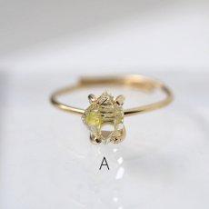 画像4: *TSUBOMI* 動く気泡入り オイルイン ダイヤモンドクォーツ原石の蕾リング(2) (4)