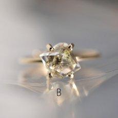画像9: *TSUBOMI* 動く気泡入り オイルイン ダイヤモンドクォーツ原石の蕾リング(2) (9)