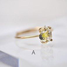 画像5: *TSUBOMI* 動く気泡入り オイルイン ダイヤモンドクォーツ原石の蕾リング(2) (5)
