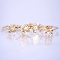 画像10: *TSUBOMI* ダイヤモンドクォーツ原石の蕾リング(88) (10)