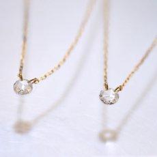 画像4: 【K10】 0.08ct ローズカットダイヤモンド ネックレス (4)