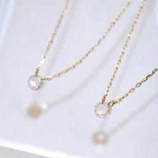 画像8: 【K10】 0.08ct ローズカットダイヤモンド ネックレス (8)